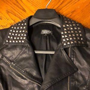 Topshop studded biker jacket size size 8